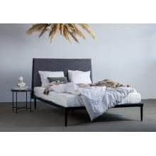 Łóżko Medelin 140x200 szare welur
