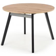 Stół rozkładany Ruben 102-142 cm dąb artisan/czarny
