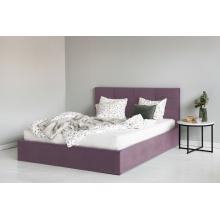 Łóżko podwójne Calabria 160x200 z pojemnikiem różowe welur