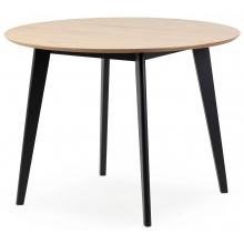 Stół okrągły 105 cm Roxby dąb/czarny