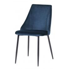 Krzesło welurowe do salonu Ciara z przeszyciem granat