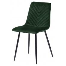 Krzesło welurowe do salonu Giovanni jodełka butelkowa zieleń