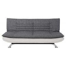 Sofa rozkładana Faith szara/biała ekoskóra