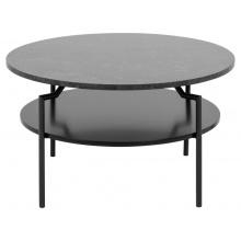 Okrągły stolik kawowy Goldington 80 cm marmur czarny