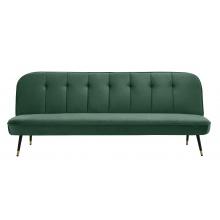 Sofa rozkładana Skoopa zielona welur