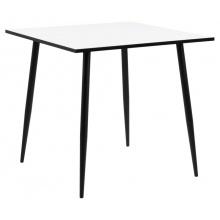 Stół Wilma 80x80 cm kwadratowy biały/czarny