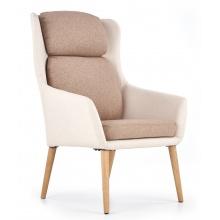Fotel do salonu Purio beżowo-brązowy