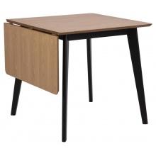 Stół rozkładany Roxby 80-120 cm dąb/czarny