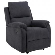 Fotel wypoczynkowy Sabia z funkcją ręcznego rozkładania ciemnoszara