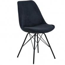Krzesło do jadalni Eris antracytowe sztruks