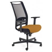 Regulowany fotel biurowy Gulietta obrotowy czarny/musztardowy
