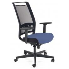 Regulowany fotel biurowy Gulietta obrotowy czarny/niebieski