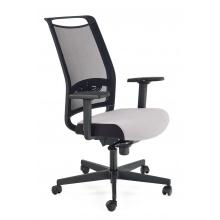 Regulowany fotel biurowy Gulietta obrotowy czarny/popielaty