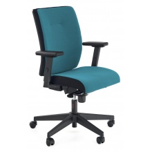Regulowany fotel biurowy Pop obrotowy czarny/niebieski