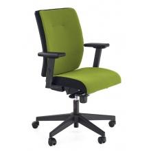 Regulowany fotel biurowy Pop obrotowy czarny/zielony