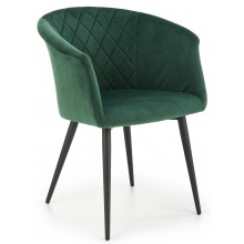 Krzesło welurowe K421 zielone/czarne