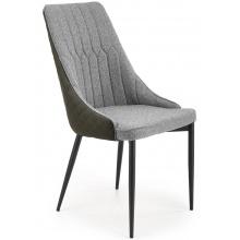 Krzesło do jadalni K448 szare/czarne ekoskóra