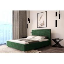 Łóżko tapicerowane Laurena 120/140/160/180 cm ze stelażem metalowym i pojemnikiem