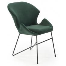 Krzesło welurowe K458 zielone/czarne