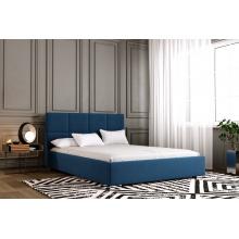 Łóżko tapicerowane Carlos 120/140/160/180 cm ze stelażem metalowym i pojemnikiem