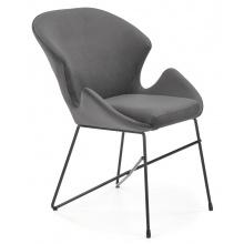 Krzesło welurowe K458 popielate/czarne