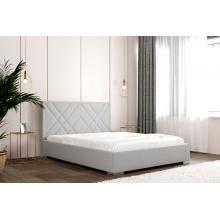 Łóżko tapicerowane Trevor 120/140/160/180 cm ze stelażem metalowym i pojemnikiem