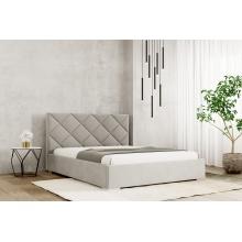 Łóżko tapicerowane Argo 120/140/160/180 cm ze stelażem metalowym i pojemnikiem