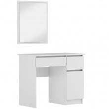 Toaletka z lustrem Lora biała