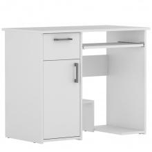 Biurko komputerowe Lisa z szufladą białe