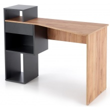 Biurko z półkami i szufladą Conti dąb wotan/antracytowe