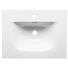 Umywalka ceramiczna wpuszczana Sky 60 cm biała