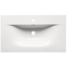 Umywalka ceramiczna wpuszczana Sky 80 cm biała