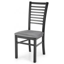 Krzesło drewniane Gerard 6 szare/czarne welur