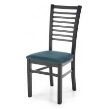 Krzesło drewniane Gerard 6 zielone/czarne welur