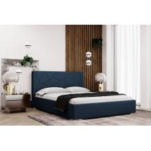 Łóżko tapicerowane Terre 120/140/160/180 cm ze stelażem metalowym i pojemnikiem
