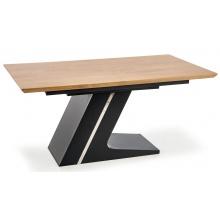 Stół rozkładany Ferguson 160-220 cm dąb naturalny/czarny