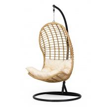 Fotel wiszący Murcja rattanowy czarny