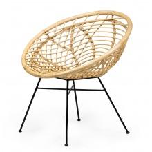 Fotel rattanowy Padang naturalny boho handmade