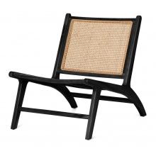 Drewniany fotel rattanowy Ngali czarny teczyna rattan handmade boho