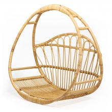 Fotel wiszący handmade Ambon rattan naturalny boho