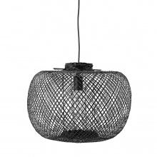 Lampa wisząca Rodi czarna bambus