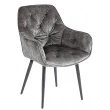 Krzesło Milano szareo zielone welur