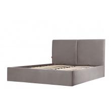 Łóżko tapicerowane ze stelażem Hold 140x200 z pojemnikiem beżowe welur