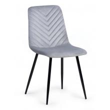Krzesło welurowe do salonu Giovanni jodełka szare