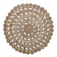 Dywan okrągły Sacha juta brązowy