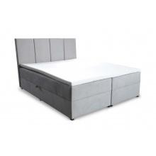 Łóżko kontynentalne Laverto 140x200 cm z 2 pojemnikami