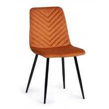 Krzesło welurowe do salonu Giovanni jodełka miedziany