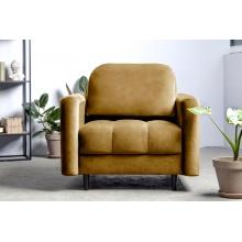 Fotel wypoczynkowy Obvious miodowy welurowy