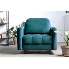 Fotel wypoczynkowy Obvious morski zielony welurowy