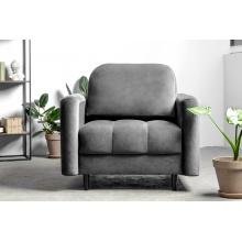 Fotel wypoczynkowy Obvious szary welurowy